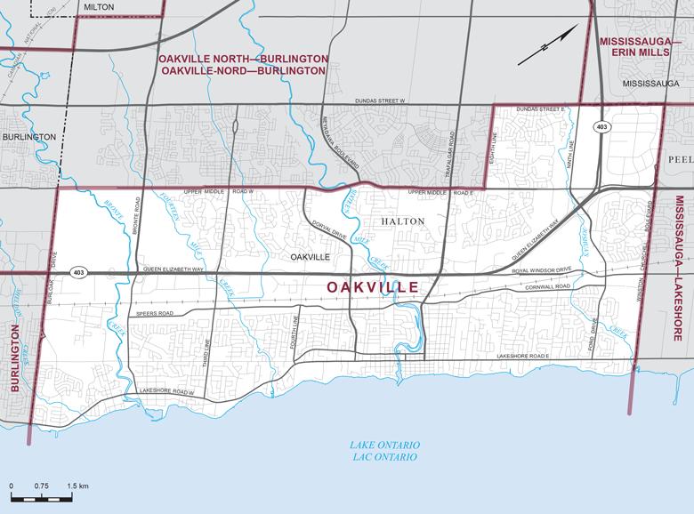 Oakville-Riding-Map